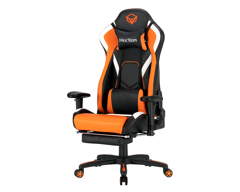 Silla Gamer Meetion Reclinable Ergonomica Juegos Gaming con reposapiés